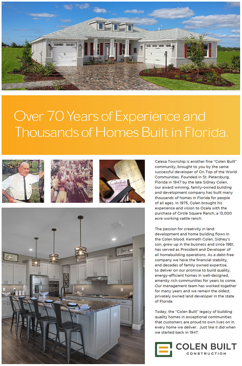 Colen Built Construction - Quality built homes for more than 70 years in Florida.