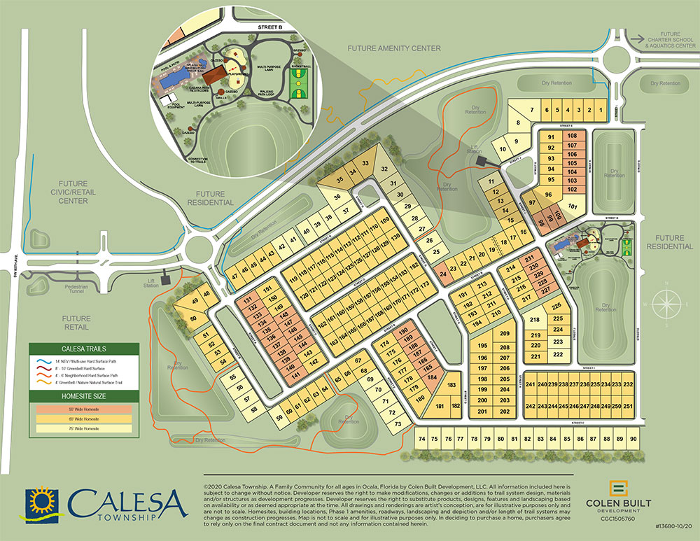 Calesa Township Site Plan for phase 1