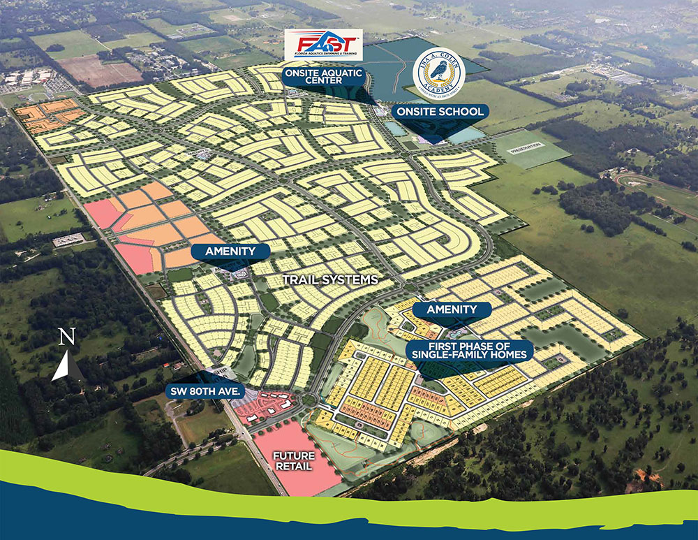 Calesa Township full site plan aerial graphic.