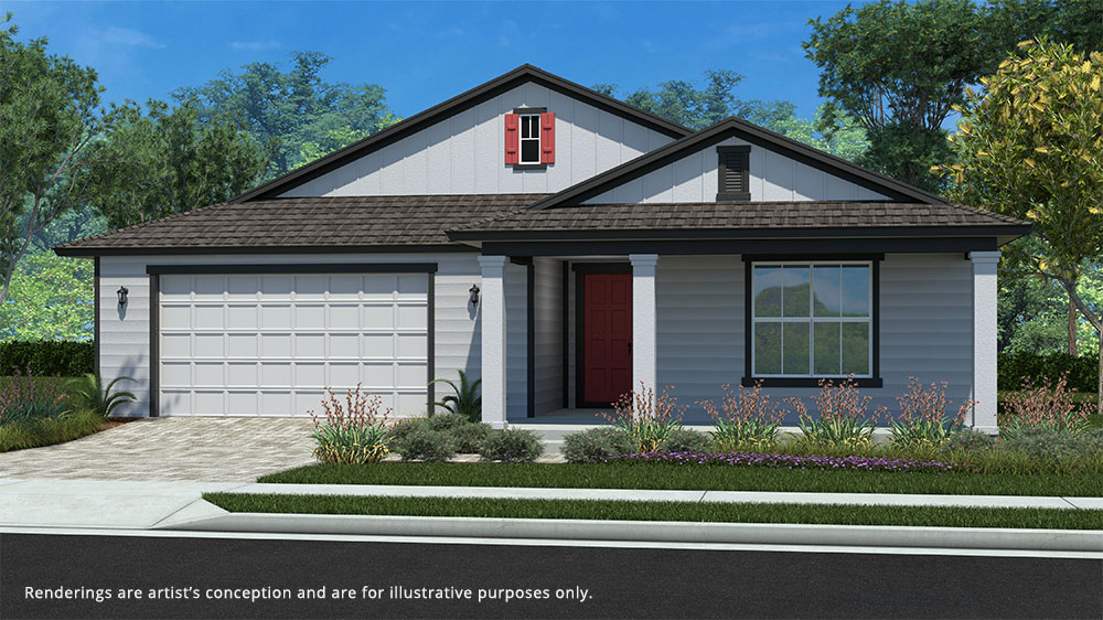 Calesa Township Floor Plans Larkspur A Elevation
