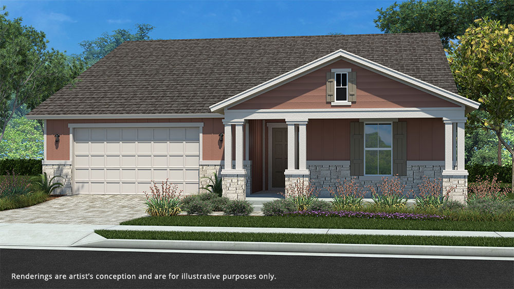 Calesa Township Floor Plans Larkspur B Elevation