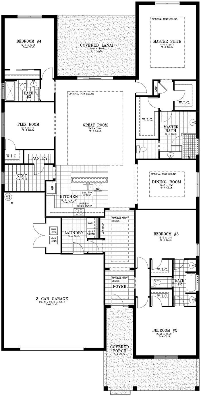 Calesa Township Floor Plans Ocala FL - Larkspur Home Model