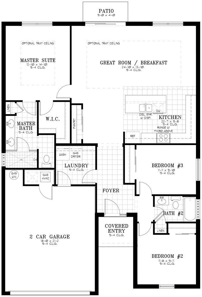 Calesa Township Floor Plans Ocala FL - Amber Home Model