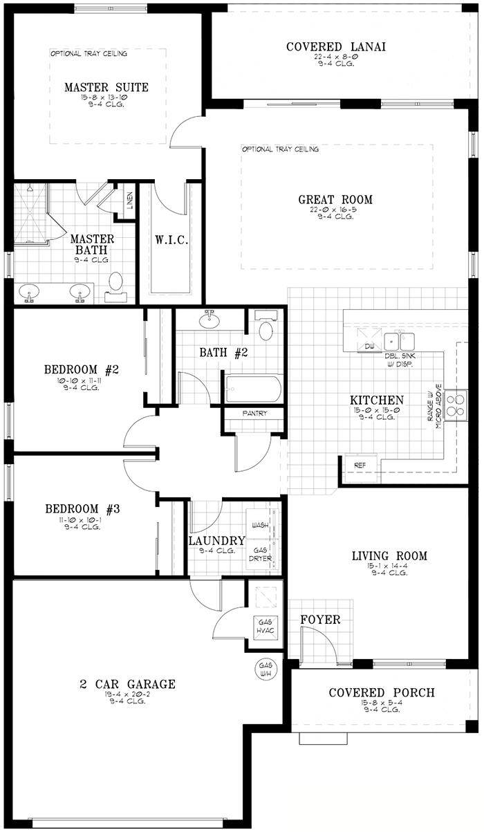 Calesa Township Floor Plans Ocala FL - Currant Home Model