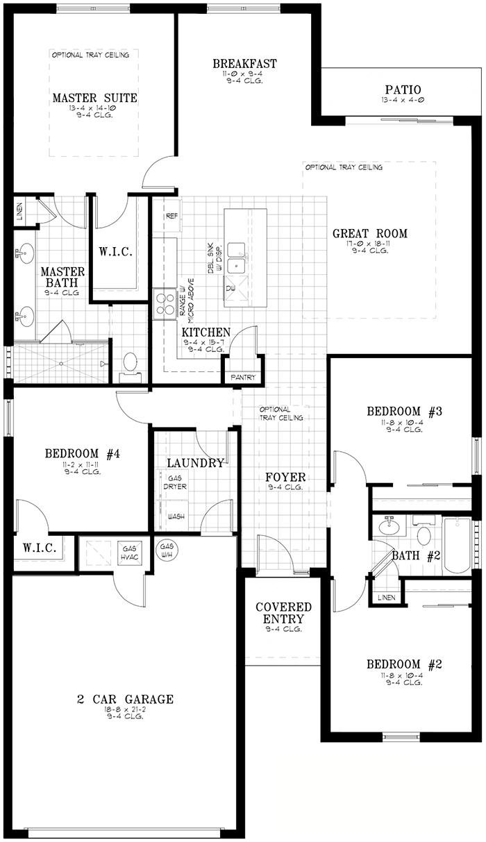Calesa Township Floor Plans Ocala FL - Garnet Home Model