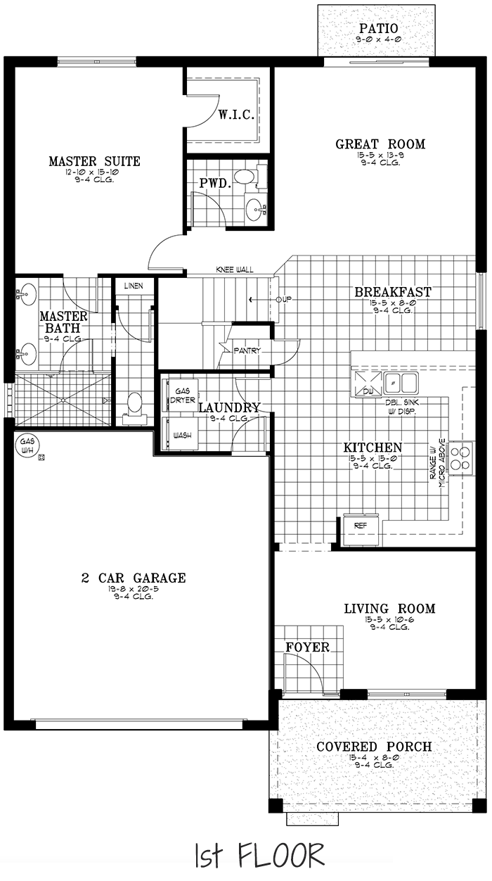 Calesa Township Floor Plans Ocala FL - Sable Home Model 1st Floor
