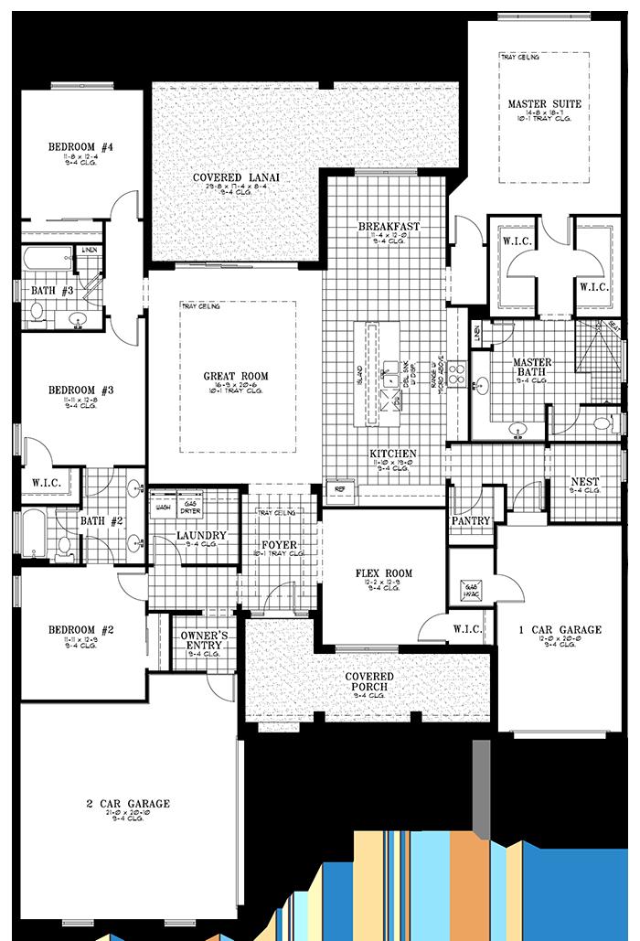 Calesa Township Floor Plans Ocala FL - Cypress Home Model