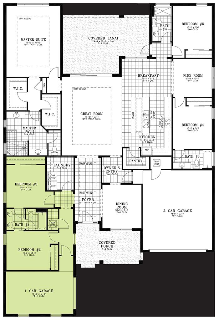 Calesa Township Floor Plans Ocala FL - Hawthorn Home Model