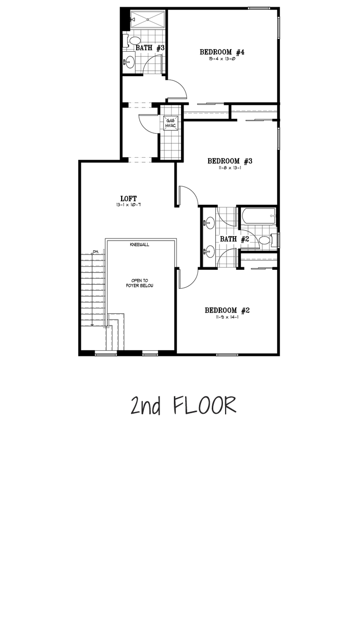 Calesa Township Floor Plans Ocala FL - Juniper Home Model 2nd Floor