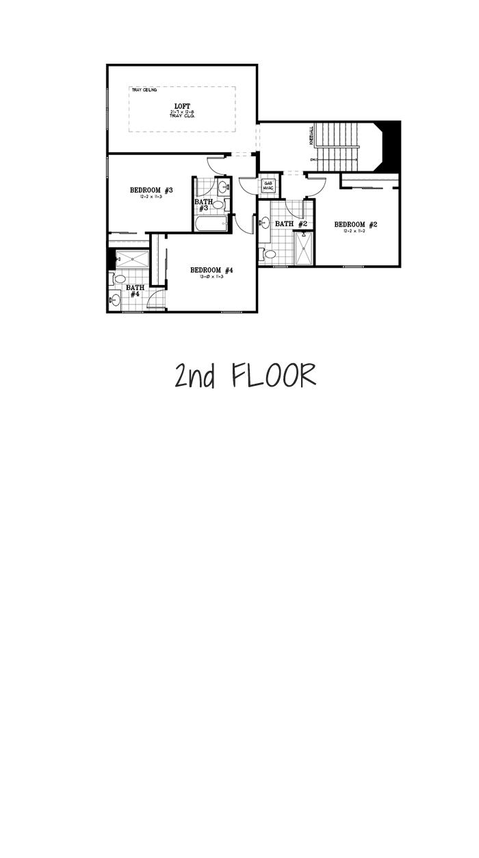 Calesa Township Floor Plans Ocala FL - Mulberry Home Model 2nd Floor