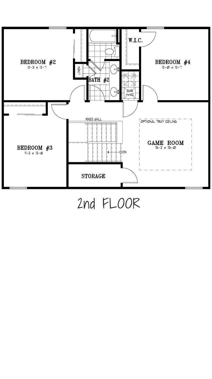 Calesa Township Floor Plans Ocala FL - Sable Home Model 2nd Floor