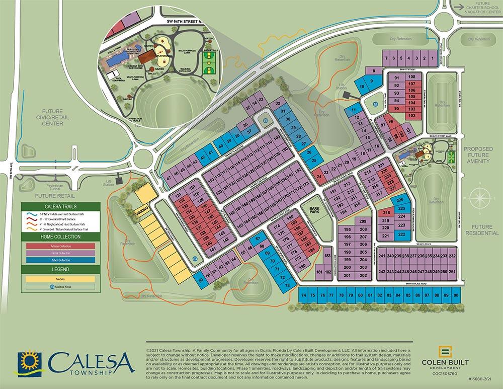 Calesa Township Roan Hills Site Plan Ocala