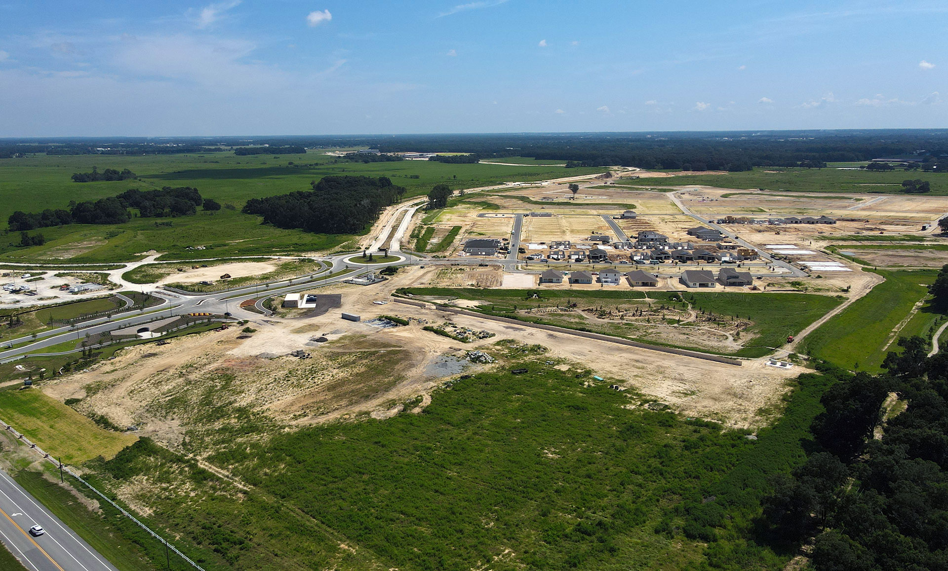 Site progress of Calesa Township in Ocala, FL 8-19-2021